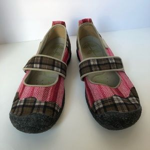 Keens Mary Janes patchwork size 8